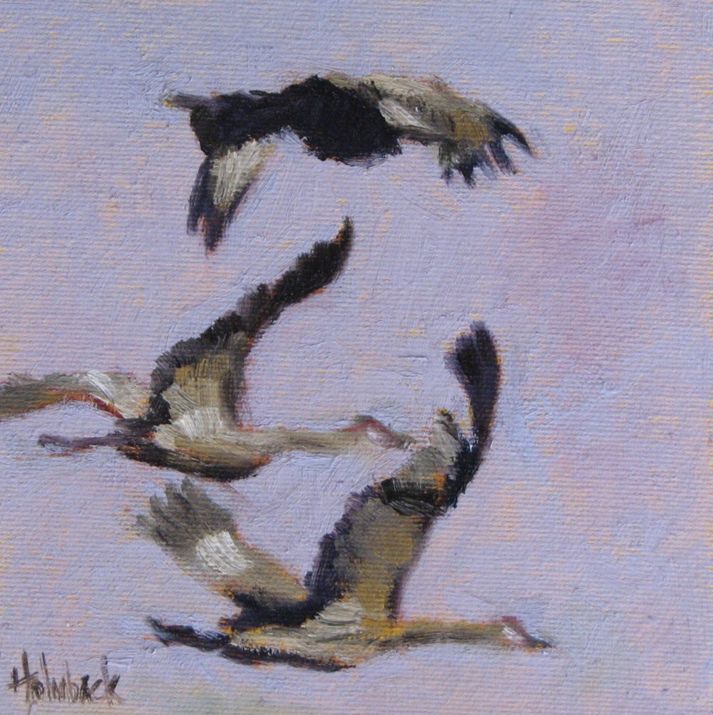 "Majestic Migration  6"" x 6""  SOLD"