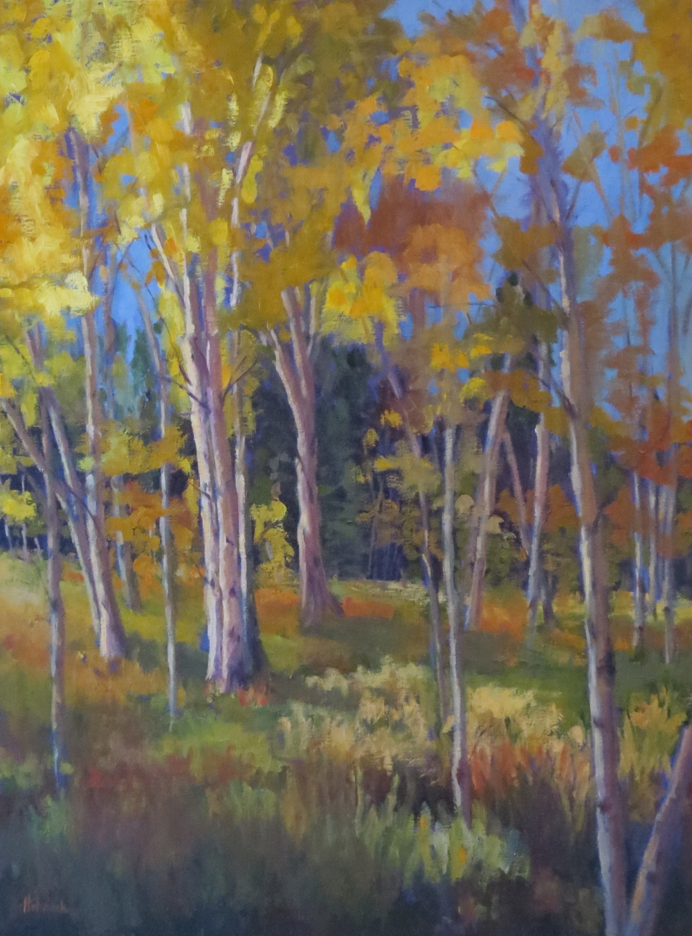 """Afternoon Aspen  24"""" x 18""""  Sold"""