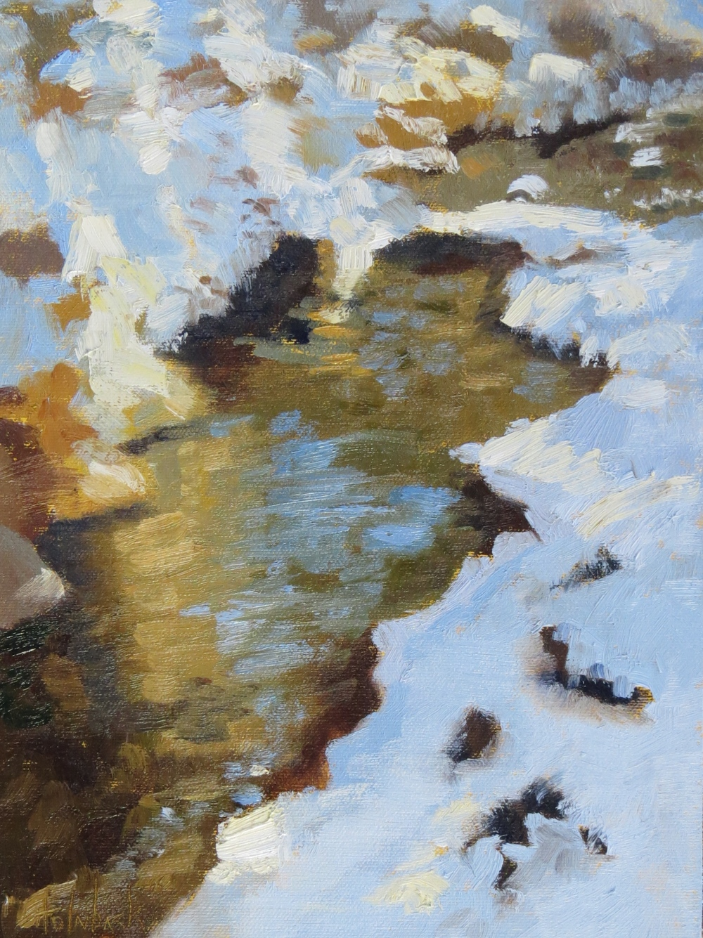 "Bear Creek Snow  12"" x 9"""