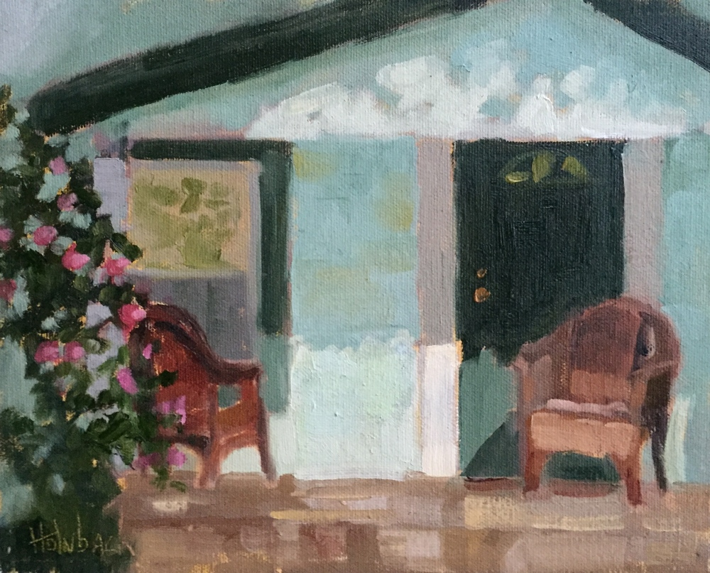 "Front Porch Light  8"" x 10"""