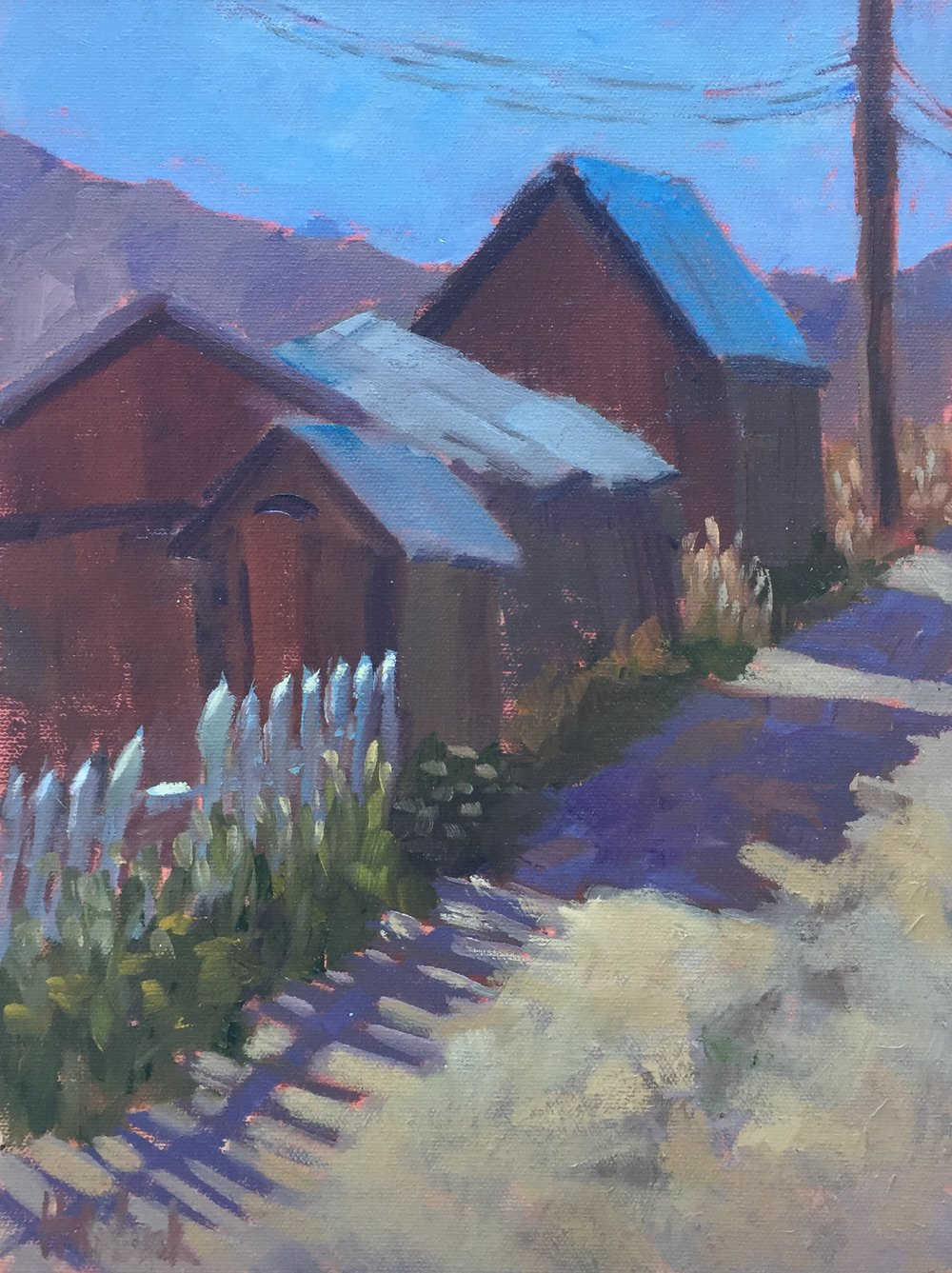 "Up Your Alley  12"" x 9""  Juried into the Plein Air Artists of Colorado 2017 National Show"