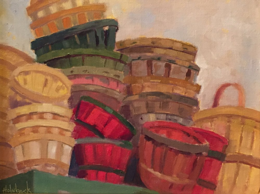 "Harvest Baskets  11"" x 14""  SOLD"