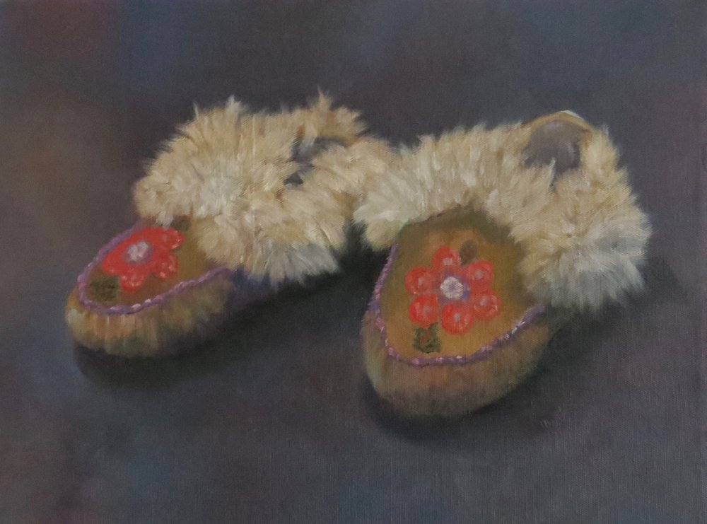 "Native Mocassins  12"" x 16"""