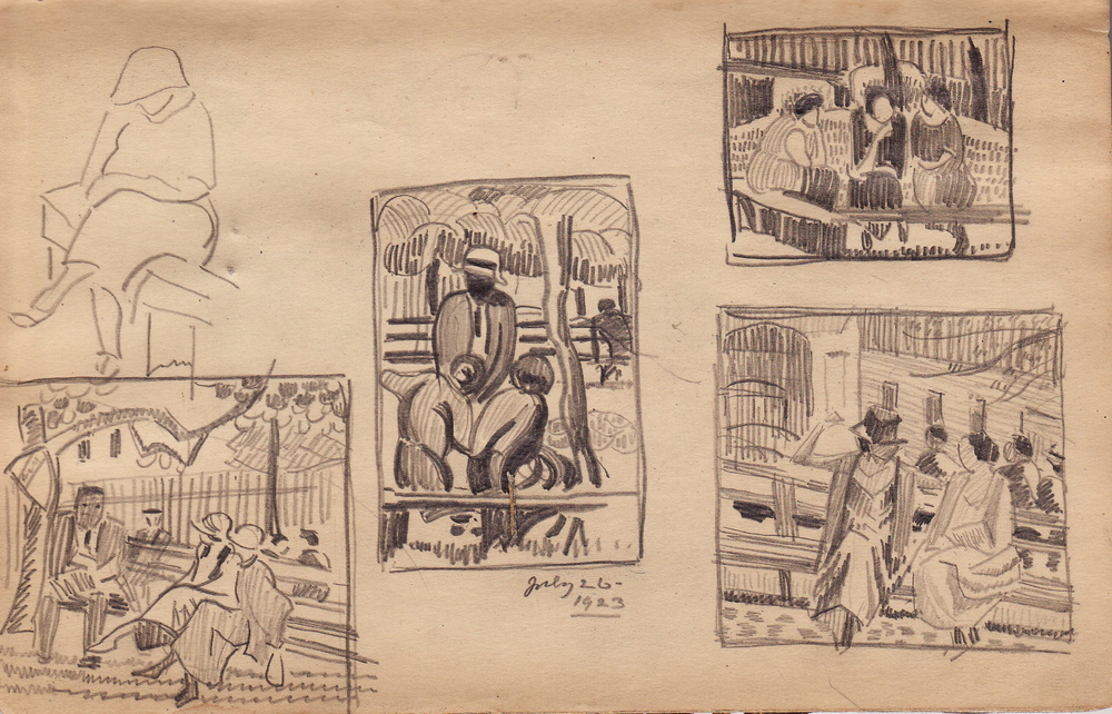 Studies for Paintings (1923 Sketchbook) by Edith Lake Wilkinson