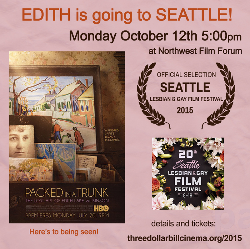 PACKED IN A TRUNK is an official selection of SEATTLE Lesbian & Gay  Film Festival and will screen on Monday October 12th at 5:00pm at Northwest Film Forum. For more info and tickets: http://www.threedollarbillcinema.org/2015