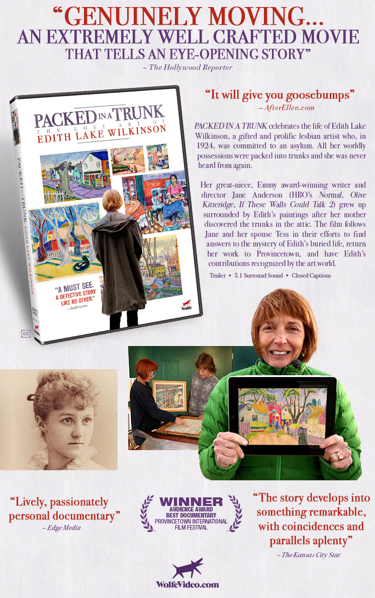 the dvd packed in a trunk the lost art of edith lake wilkinson