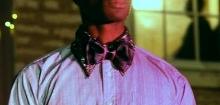 "Black Leather Bow Tie - ""L-Bows"""