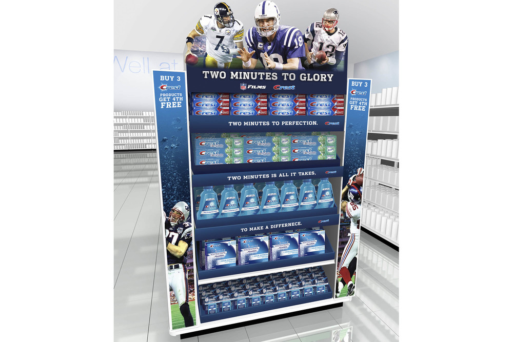 NFL & Crest End Cap for Target Promotion