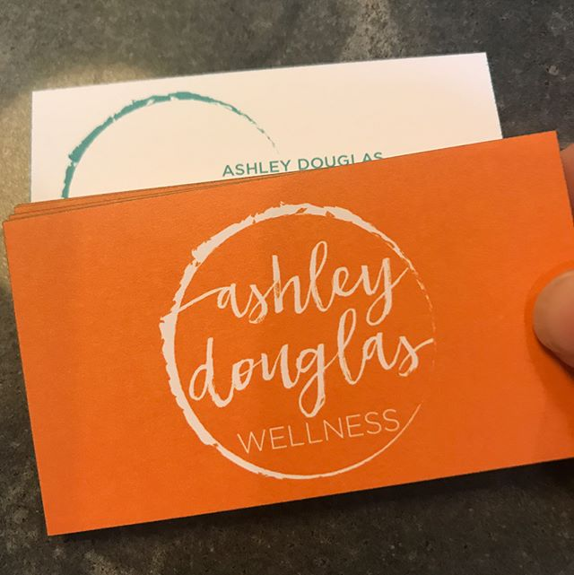 Another happy client for logo & business card design.  Follow @ashleydouglaswellness for tips on fitness, eating healthy, meal preps and overall life balance. She's the bomb! www.ashleydouglaswellness.com