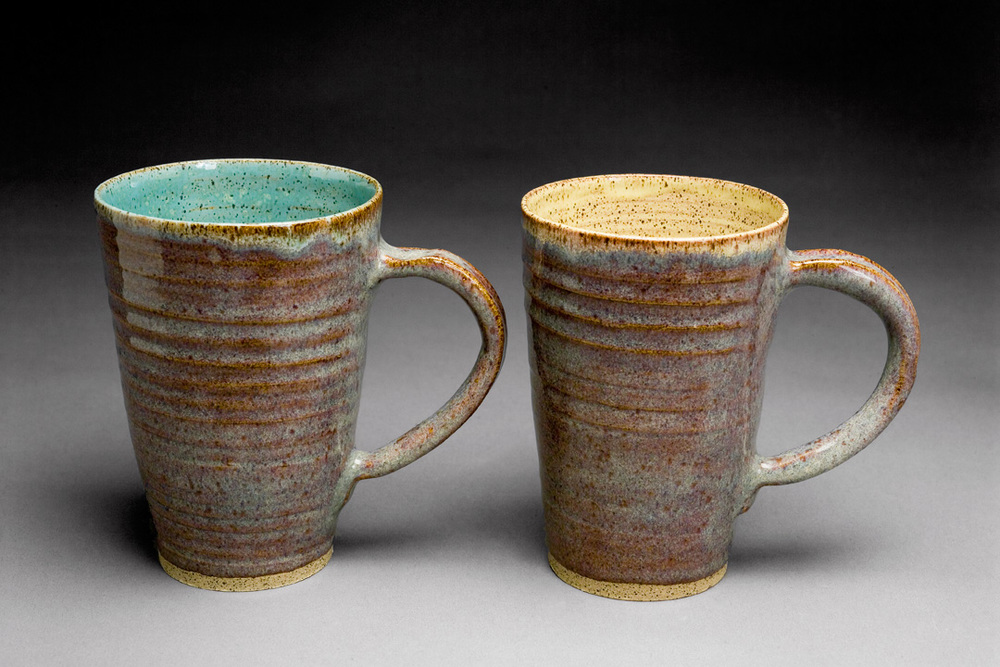 "Mugs: Stoneware   Hobbit/Yellow  Hobbit/Robin's Egg  5"" x 3.5 """