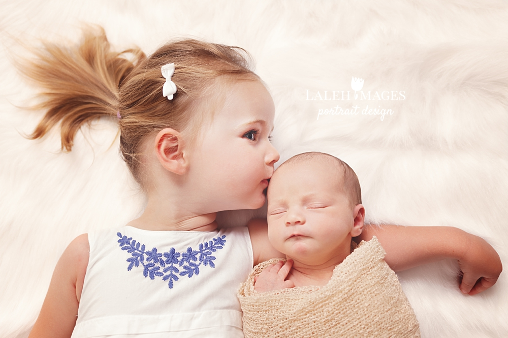 Newborn and sister pic