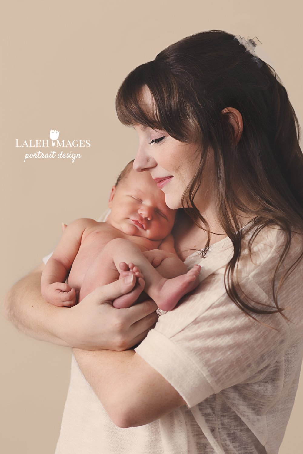Mother and newborn photo