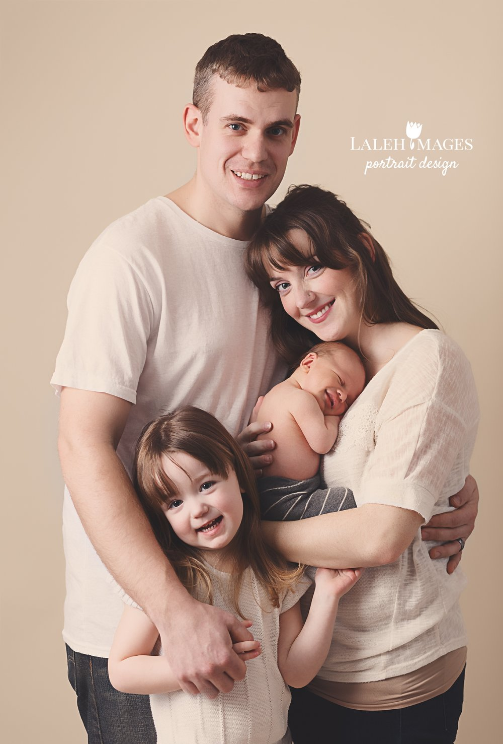 Newborn family session