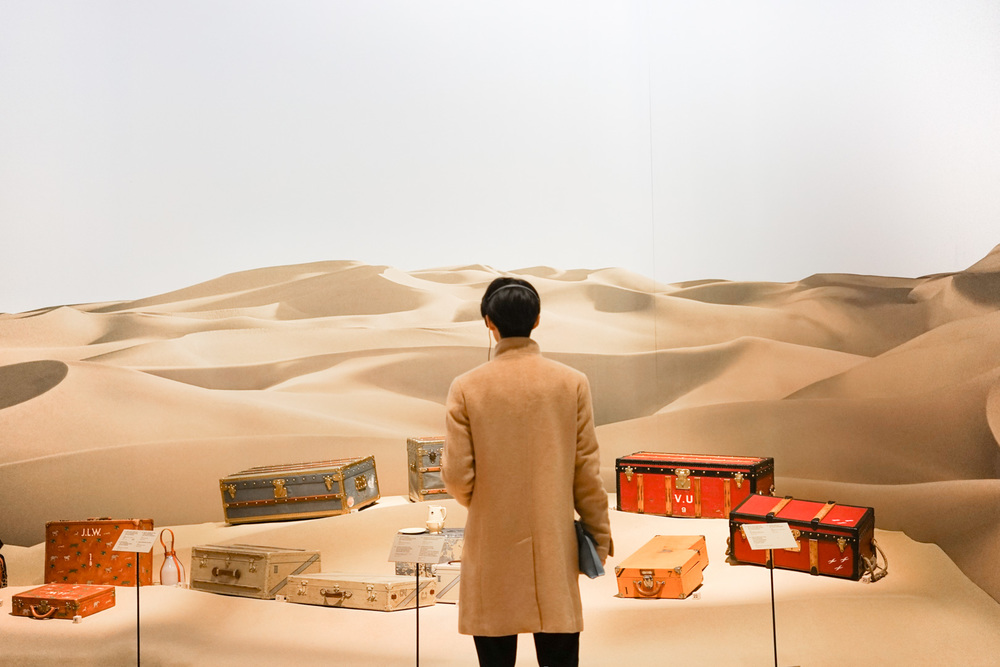 Louis Vuitton describes the history of collections in the last century. For example, when the exploration in the Sahara was in trend, Louis Vuitton introduced designs that were made for such safaris.
