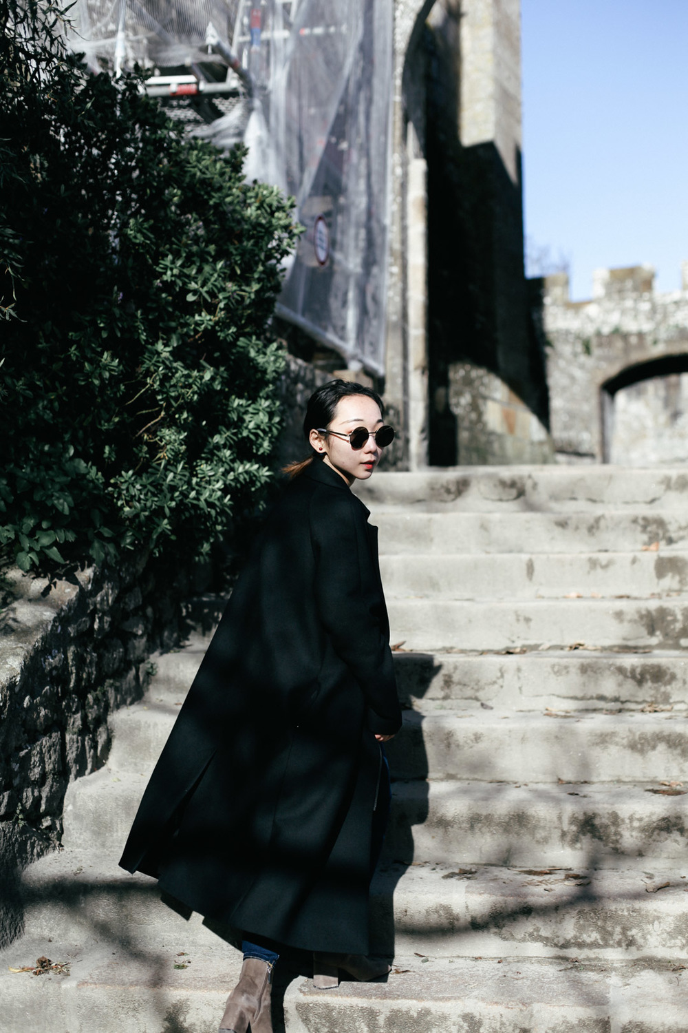 Coat from COS; Sunnies from Mykita