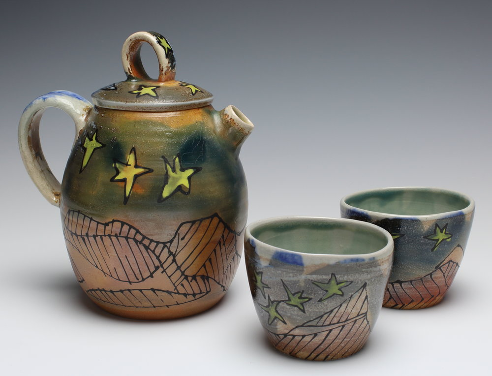 Starry Teapot & Cups