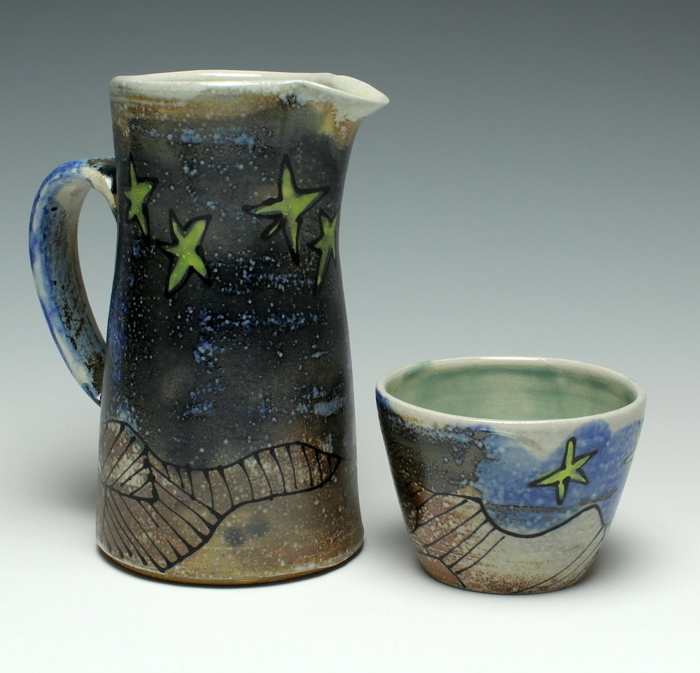 Starry Pitcher & Cup