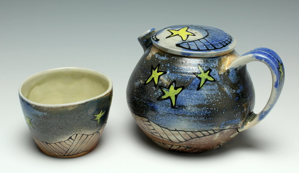 Starry Teapot & Cup