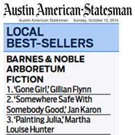 Painting Juliana by Martha Louise Hunter Number Three Best Seller, Barnes and Noble Austin Arboretum