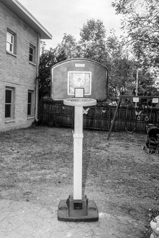 Basketball hoop. October 2017.