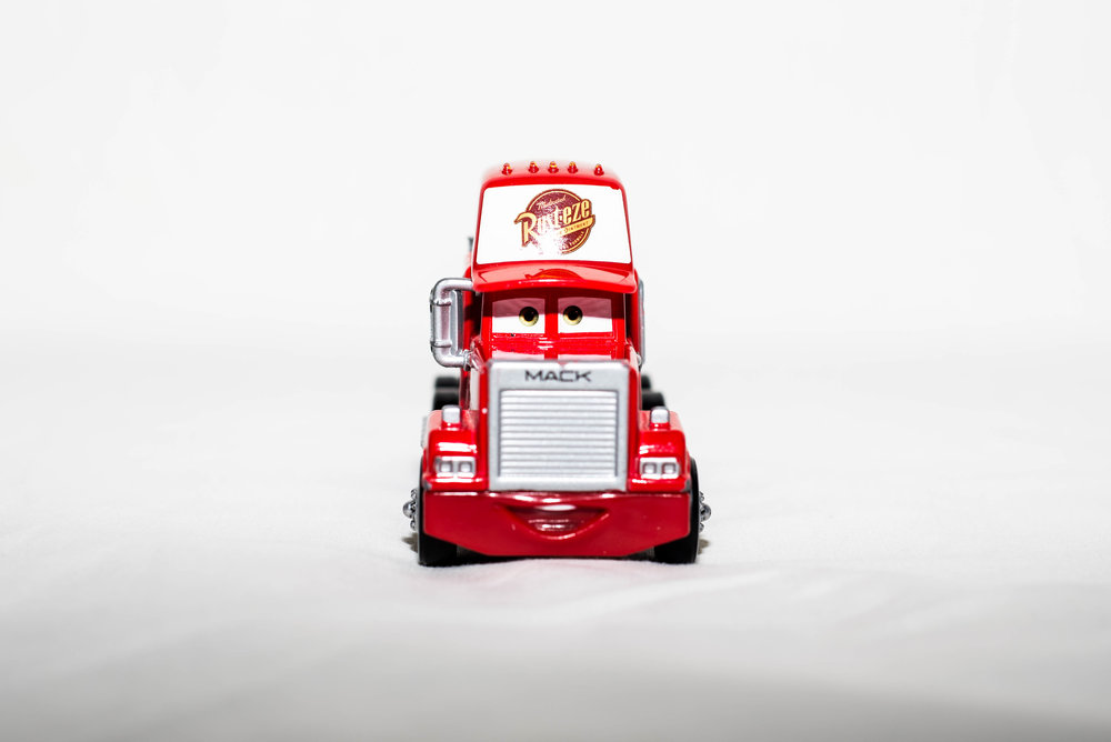 Toy truck. March 2017.
