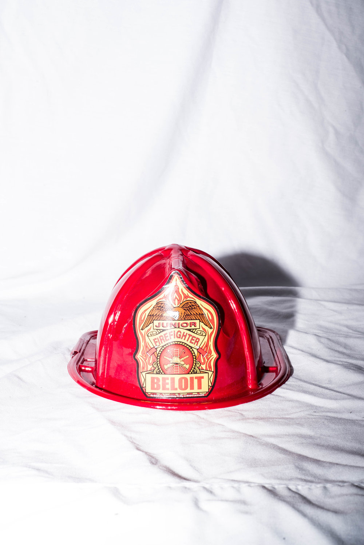 Fire helmet. April 2017.