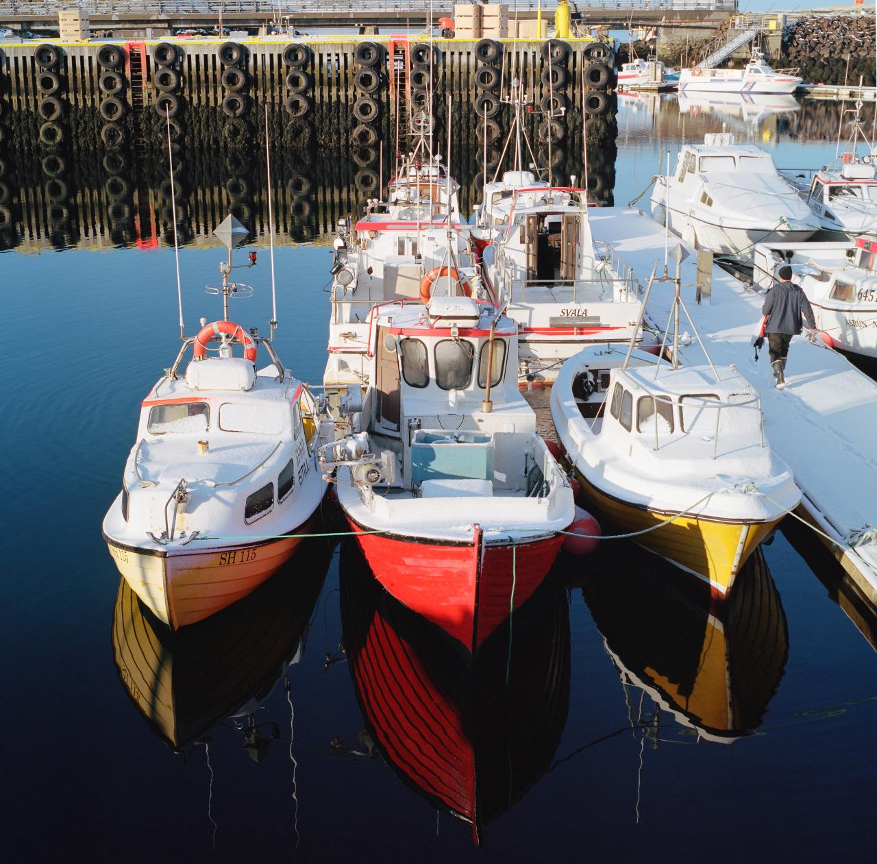 Fisherman, Stykkishólmur, Iceland.  Kodak Portra 400//Hasselblad 500CM