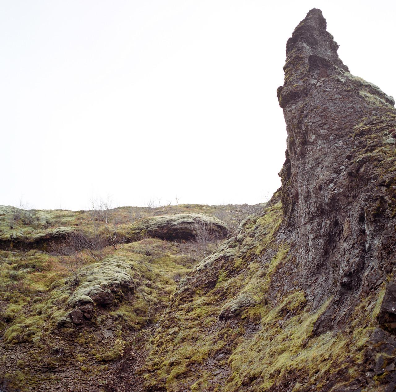 Lava formation - hiking near Botnsdalur.   Kodak Portra 400//Hasselblad 500CM