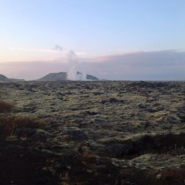 Geothermic sunrise. Iceland.