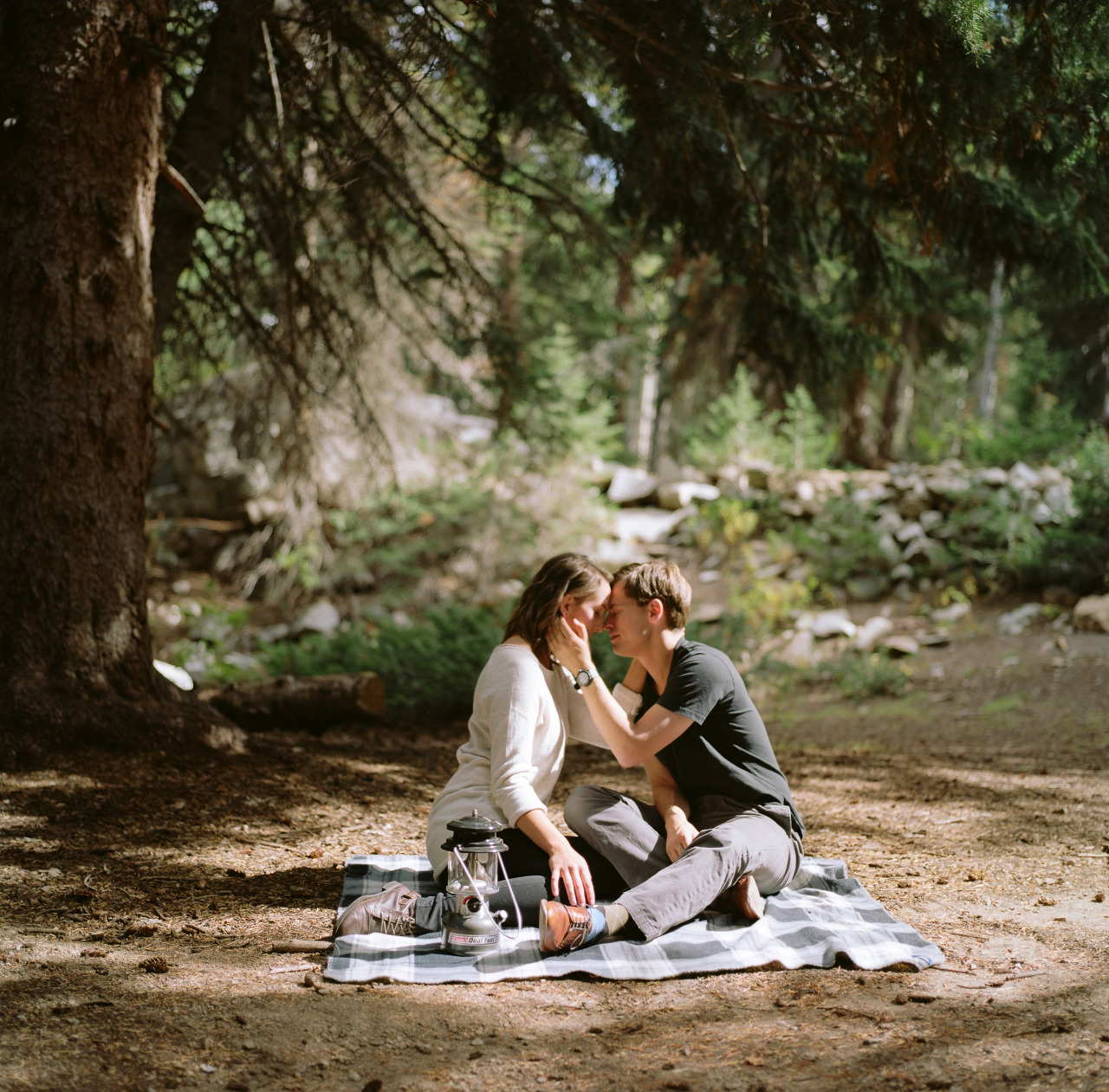 Jennifer and Adam, my dearest friend and her new fiancée.   Kodak Portra 160 / Hasselblad 500 CM