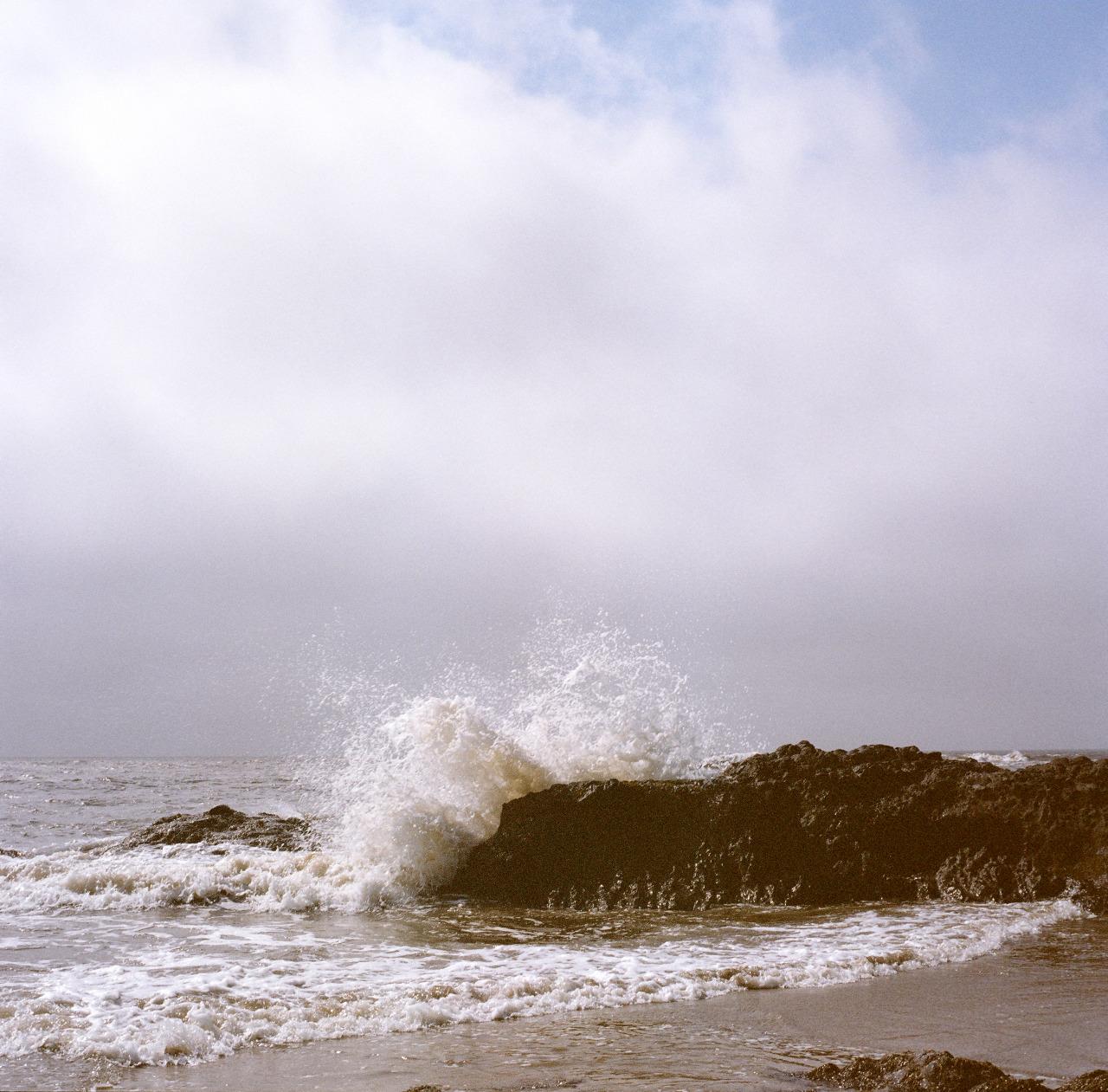 Moment of Impact   Strawberry Hill, Oregon coast.   Expired Kodak / Hasselblad 500 CM