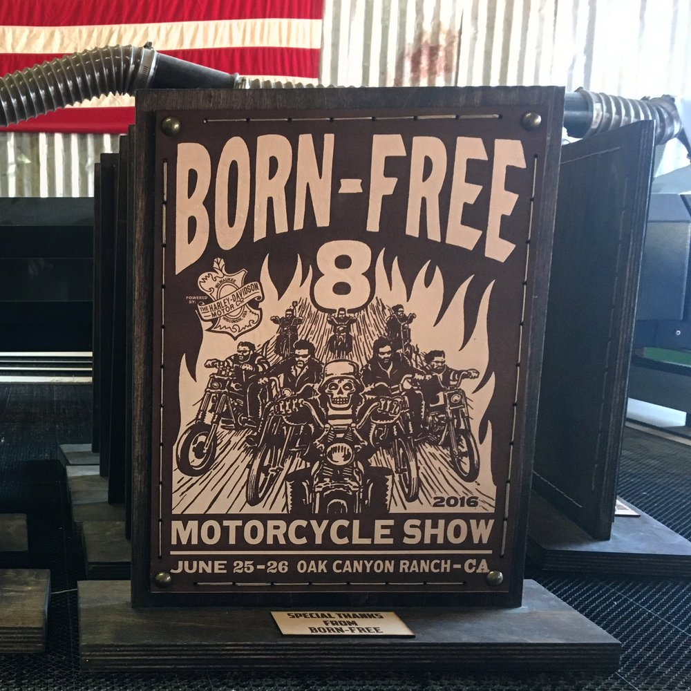Custom Trophies Designed and Manufactured For Born Free x Harley Davidson