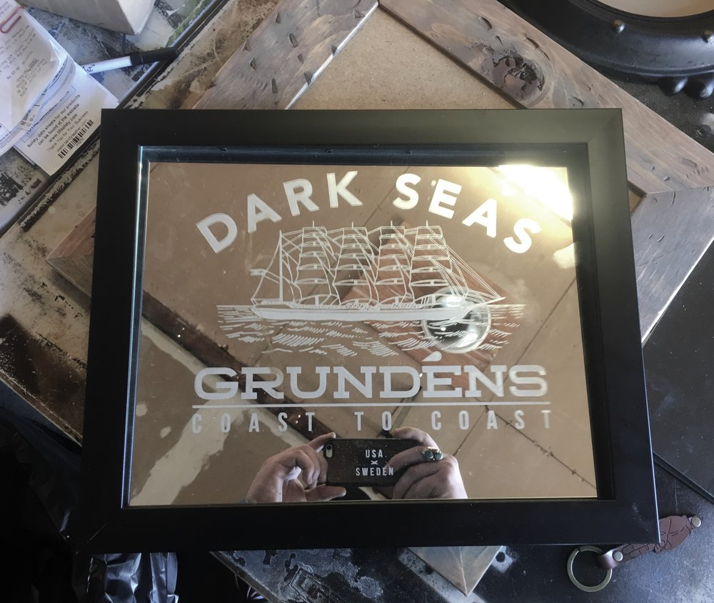 Laser Etched Mirror  Sign