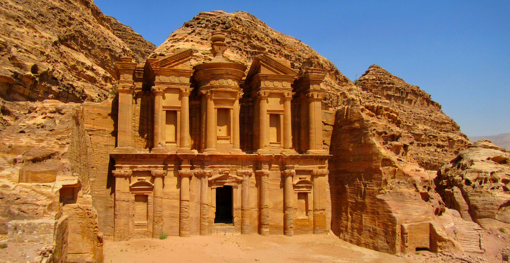 "The Monastery, one of the three ""high"" places in Petra."