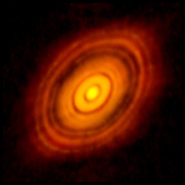 ALMA image of HL Tau circumstellar disk.