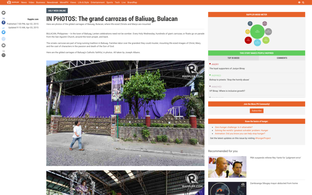 IN PHOTOS: The grand carrozas of Baliuag, Bulacan
