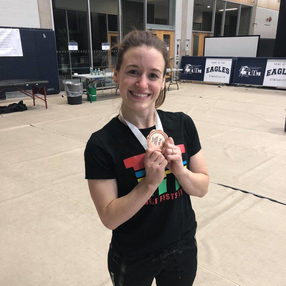 Daphne-Anne Hodgson - Bronze medal in 48kg class