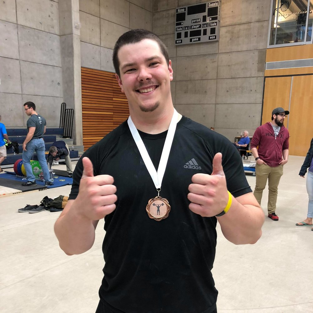Chad Brooks - Bronze medal in 105+kg class