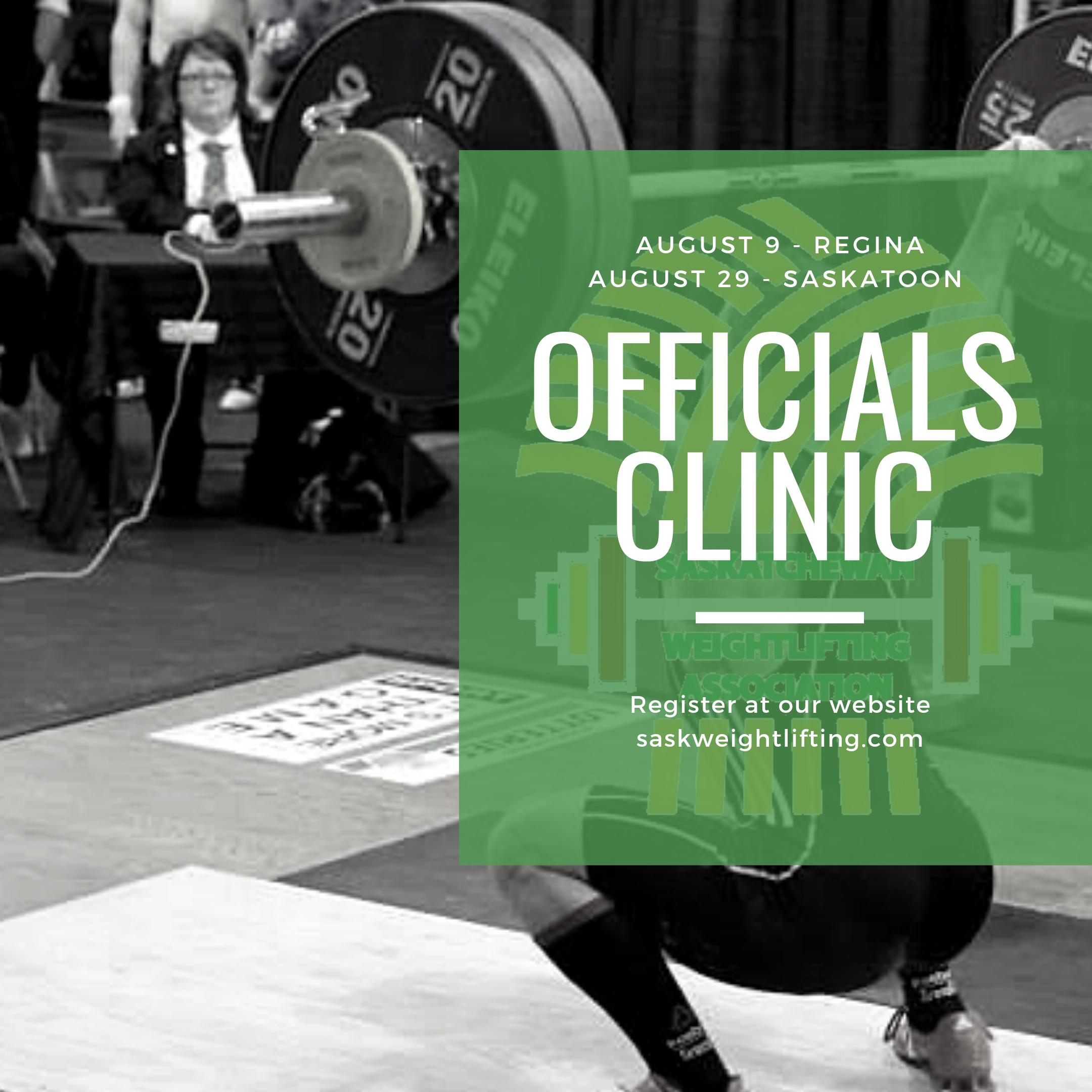 Events Calendar — Saskatchewan Weightlifting Association