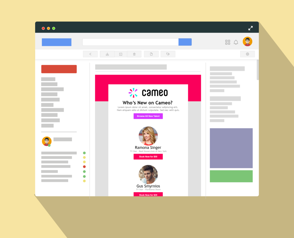 CAMEO - UI/VISUAL/EMAIL NEWSLETTER REDESIGN