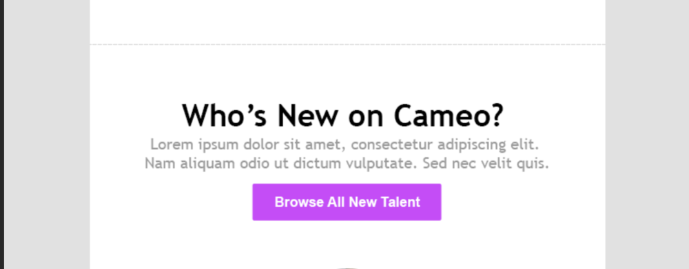 who's new on cameo