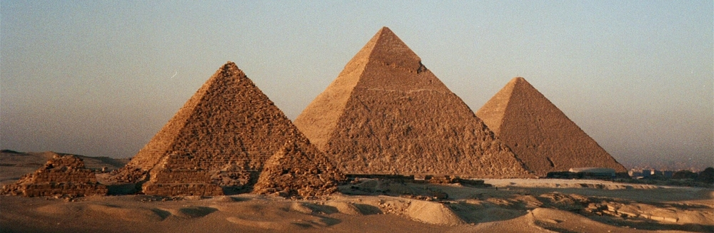 THE ANCIENT EGYPTIAN PYRAMIDS ARE AN EXAMPLE OF A SOLID STRUCTURE