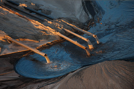 TAILINGS POND DEPOSITS WATER WITH HYDROCARBONS
