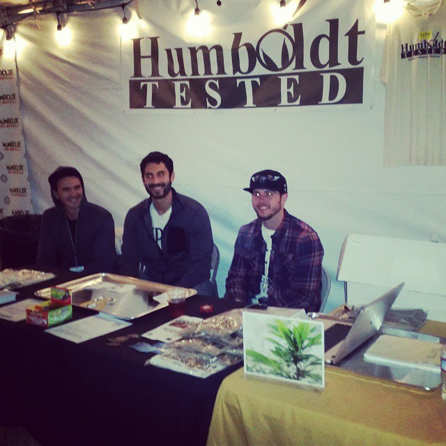 The guys from @humboldtpatientresourcecenter telling #highgradegala attendees about Humboldts new and only moisture.and potency tester @humboldttested