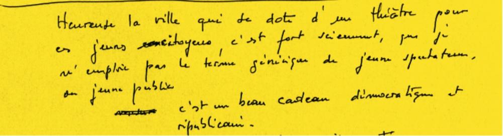 Note manuscrite d'André POMARAT (non datée, 8 feuillets). 29,7x21 cm. Archives personnelles d'André POMARAT, Strasbourg.