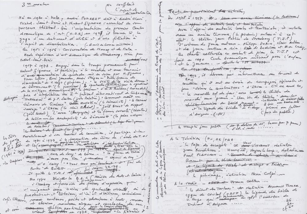 Noticebiographiquemanuscrited'AndréPOMARAT(nondatée)[20feuilletsmanuscrits],9x14,3cm,Archivespersonnellesd'AndréPOMARAT,Strasbourg.