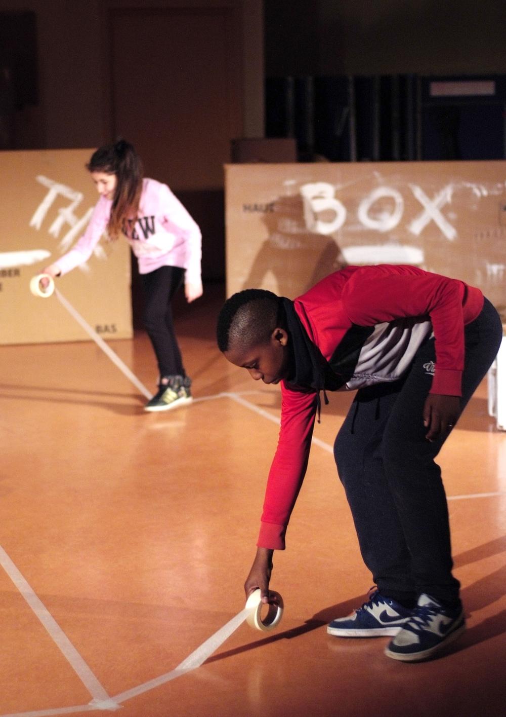 Chantier OUT OF THE BOX coordonné par  Gilbert Meyer  avec le Collège Hans Arp et l'école Martin Schongauer