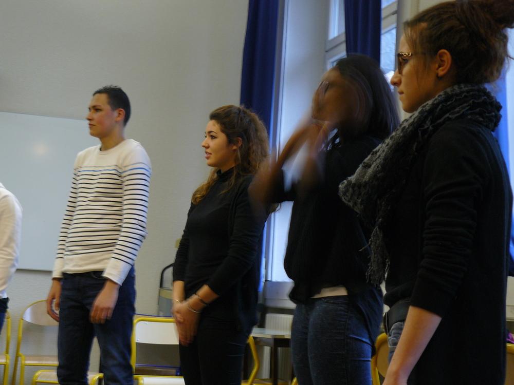 Chantier Voix et Corps mené par  K. Fortin et M. Schoenbock / Déc 2014