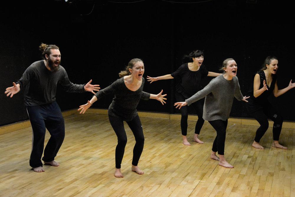 Chantier  Théâtre chanté et chœur en mouvement  mené par Eve Ledig et Jeff Benignus / Janvier-Mars 2017