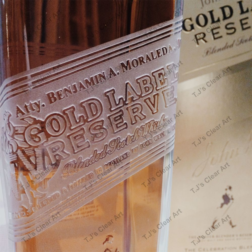 Customized Gold Label Bottle